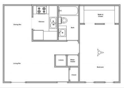 Floor Plan - 1BR