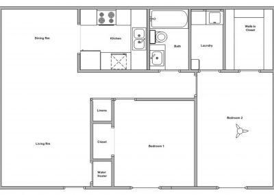 Floor Plan - 2BR